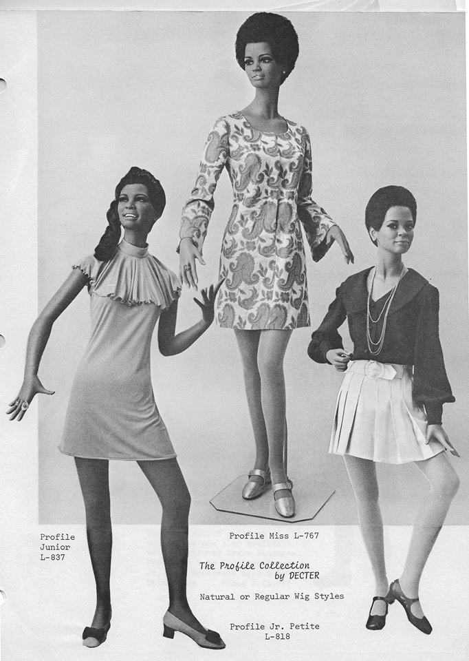 African American Black Mannequins 1960's from Decter Vaudeville Mannequins