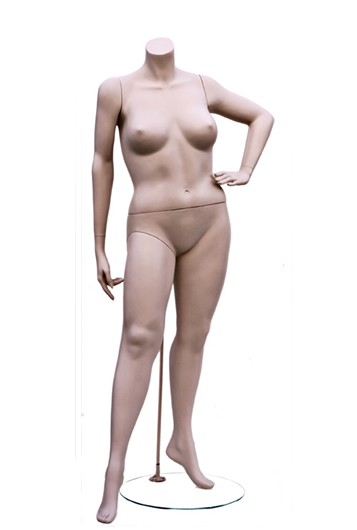 Headless plus size female mannequin from Vaudeville Mannequins