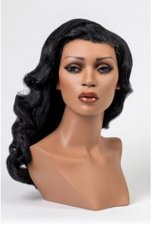 African American Black Female Mannequin Head for Wigs for Sale