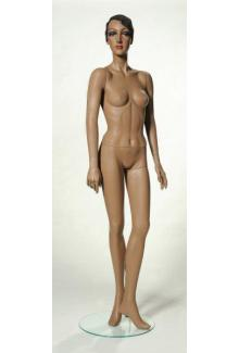 "African Black Mannequin C11 with ""Velma"" Head - Female, Standing Mannequin Body"