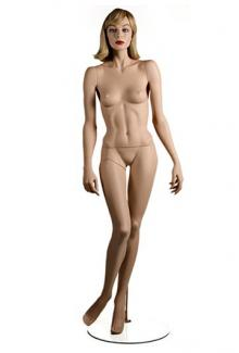 "Realistic female full body mannequin for sale HC12 with ""Lorna"" Head - Female, Standing Mannequin Body"