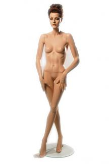 "Realistic mannequins for sale HC8 with ""Lorna"" head - Female, Standing Mannequin Body"