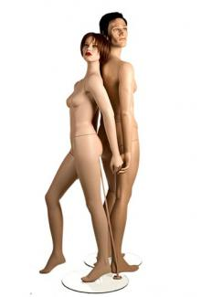 YA10 and YA8 with Brian and Tess Heads - Female, Standing Mannequin Body