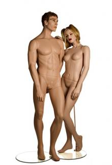 YA11 and YA7 with Carey and Tess2 Heads - Female, Standing Mannequin Body