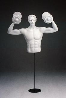 Weightlifter DSF29 - Male, 3/4 Mannequin Form
