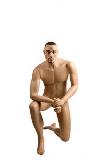 Kneeling male mannequin for sale YA14 with Stephen head - Male, Kneeling Mannequin Body