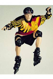 Rollerblade Mannequin for sale Jumper - Male, Squatting Mannequin Body