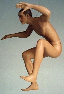Jumper - Male, Squatting Mannequin Body
