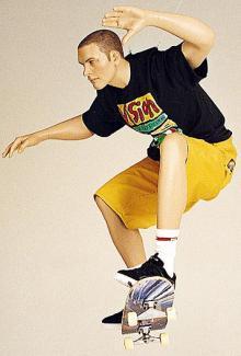 Skateboarder - Male, Squatting Mannequin Body