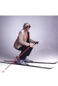 Skier - Male, Squatting Mannequin Body