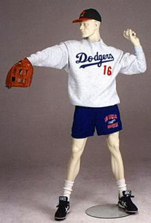 Baseball Player Mannequins Pitcher - Male, Standing Mannequin Body