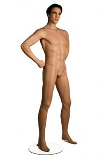 Mens realistic full body mannequins for sale near me PRI3 with Kane head - Male, Standing Mannequin Body