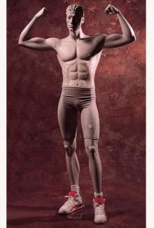 Weightlifter 3 Abstract - Male, Standing Mannequin Body