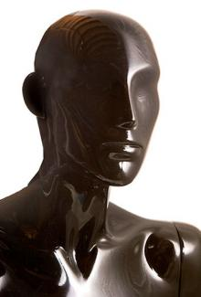 Black Gloss Finish - Female, Mannequin Head
