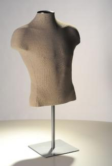 Men's Shirt Form, Natural Tailored Linen - Male, Mannequin Form