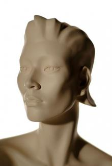 Leslie S Two - Mannequin Head, Female
