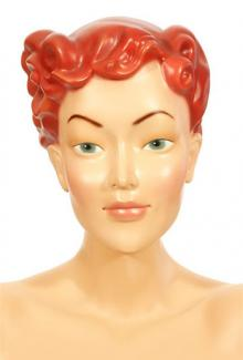 Mary Red - Female,  Mannequin Head