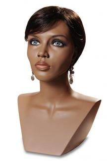 African American Black Mannequin Head Shayla Cameo - Female