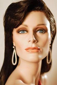 """Simone"" - Female, Mannequin Head"