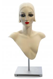 DMJ84 AN11S - Female, Mannequin Millinery and Jewelry Display Head