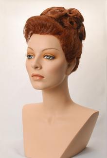 Style 1600 Color Auburn - Female,  Mannequin Head