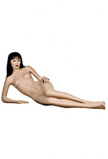 "Reclining Realistic Asian Female Mannequin Patina V C10 with ""Chantal"" head - Female, Reclining Mannequin Body"