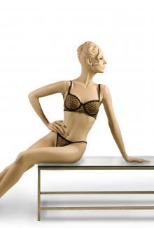 "C9 with ""Pola S3"" Head - Female, Reclining Mannequin Body"