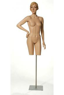 "Dorfman Museum Mannequins C1.11A with ""Zelda"" Head - Female, 3/4 Mannequin Body"