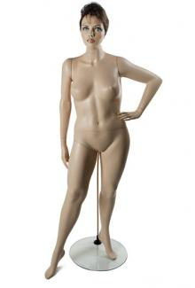 W557-1 with Shayla Head - Female, Standing Mannequin Body