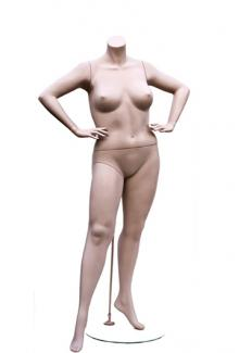 W557-3 Headless - Female, Standing Mannequin Body