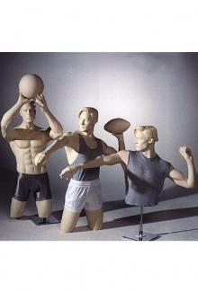 Trio Sports - Male, 3/4 Mannequin Forms