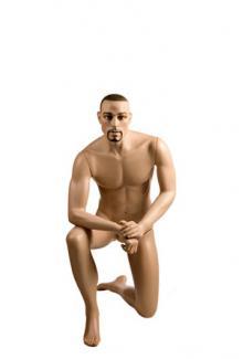 Kneeling male mannequin for sale YA14 with Stephen head - Male, Kneeling Mannequin Body