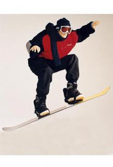 Skiboarder - Male, Squatting Mannequin Body
