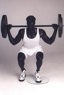 Weightlifter 4 - Male, Squatting Mannequin Body