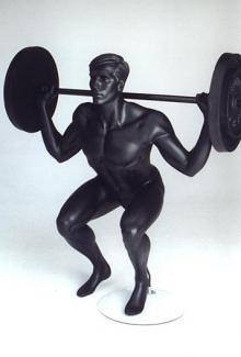 Weightlifter 5 - Male, Squatting Mannequin Body