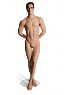 Retail store clothing mannequins for sale CM12 with Carey head - Male, Standing Mannequin Body