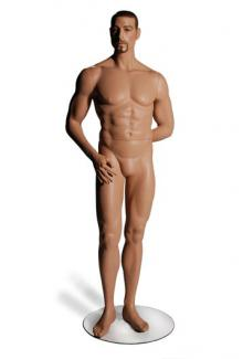 Lifelike male mannequins for sale  CM2 with Stephen head - Male, Standing Mannequin Body