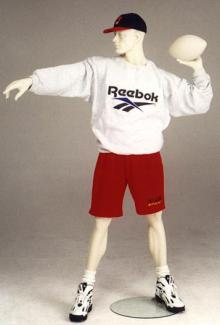 Football Player Mannequin Quarterback- Male, Standing Mannequin Body