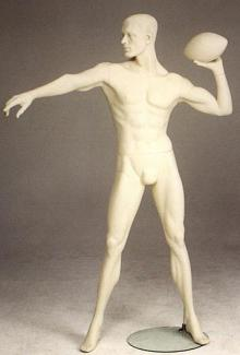 Football Player Mannequin for sale 2 - Male, Standing Mannequin Body