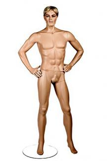 Realistic male mannequins for sale PRI1 with JR head - Male, Standing Mannequin Body