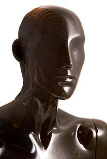 Black Gloss Finish - Female, Mannequin Head