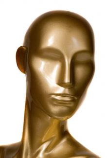 Gold Finish - Female, Mannequin Head