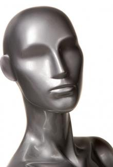 Silver Finish - Female, Mannequin Head