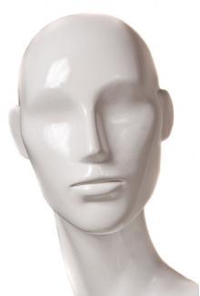 White Gloss Finish - Female, Mannequin Head