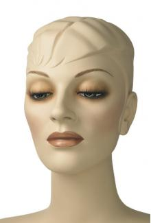 """Blue S"" - Female, Mannequin Head with Make-up"