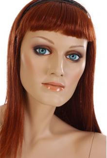 Realistic Female Mannequins for sale:Jeri - Mannequin Head, Female