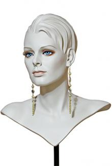 Parisienne Hand-painted face - Female, Jewlery Display