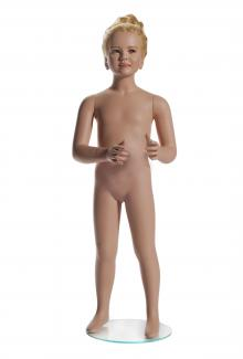 G217 with Head - Female, Child, Standing Mannequin Body