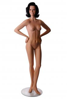 Smiling mannequin for sale C1 with Rielle Head - Female, Standing Mannequin Body