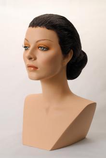 Style 1300 Color Black - Female,  Mannequin Head